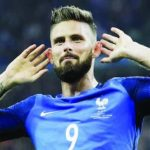France vs Belgium: Giroud targets goal against Courtois