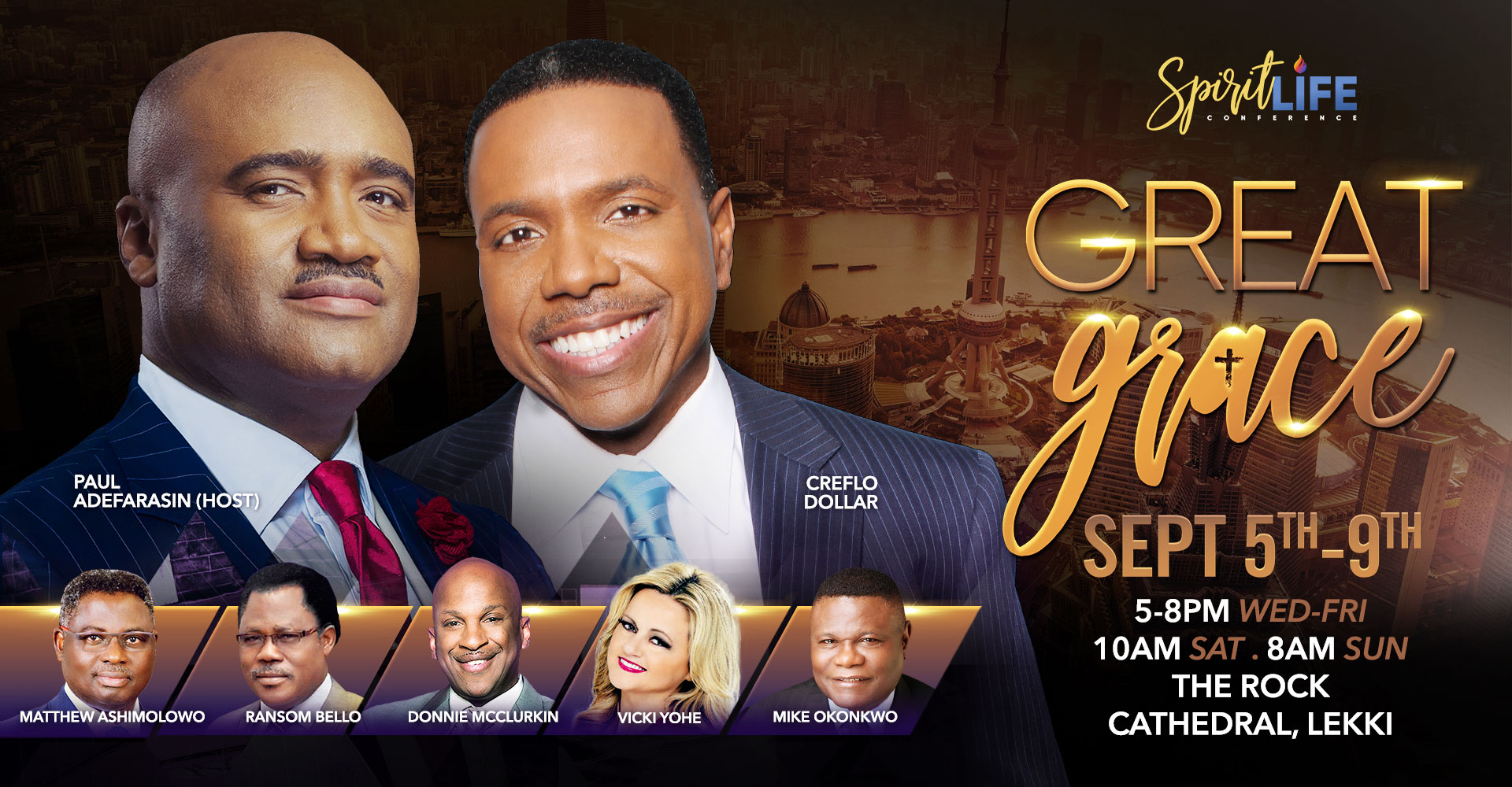 Get ready for The Spirit Life Conference with Paul Adefarasin