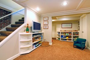 play room in a white basement on the financialquest web